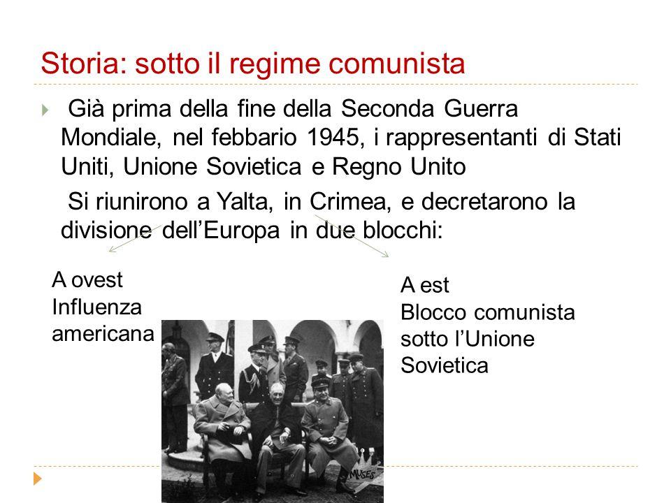Storia: sotto il regime comunista
