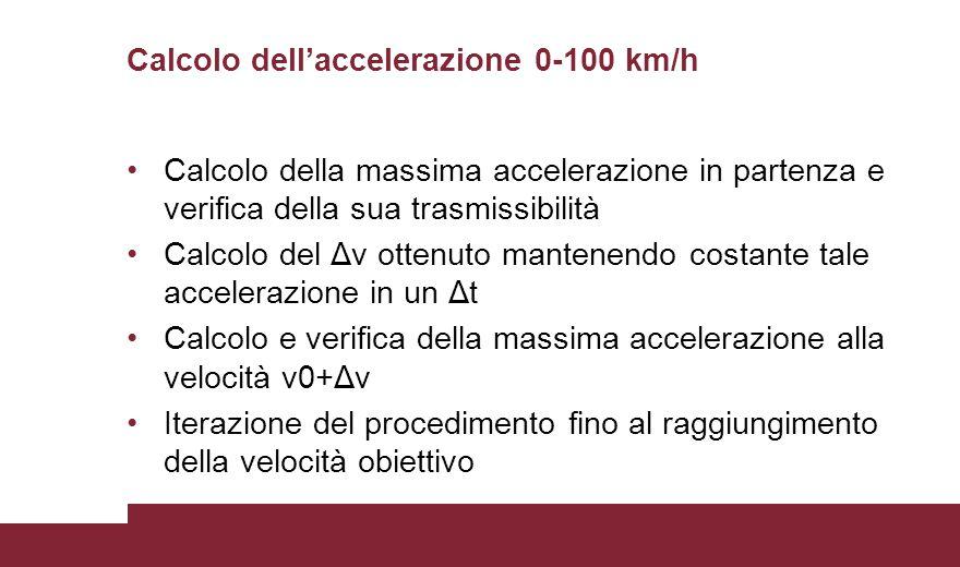 Calcolo dell'accelerazione 0-100 km/h