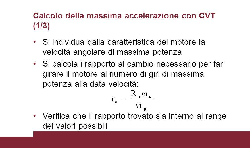 Calcolo della massima accelerazione con CVT (1/3)