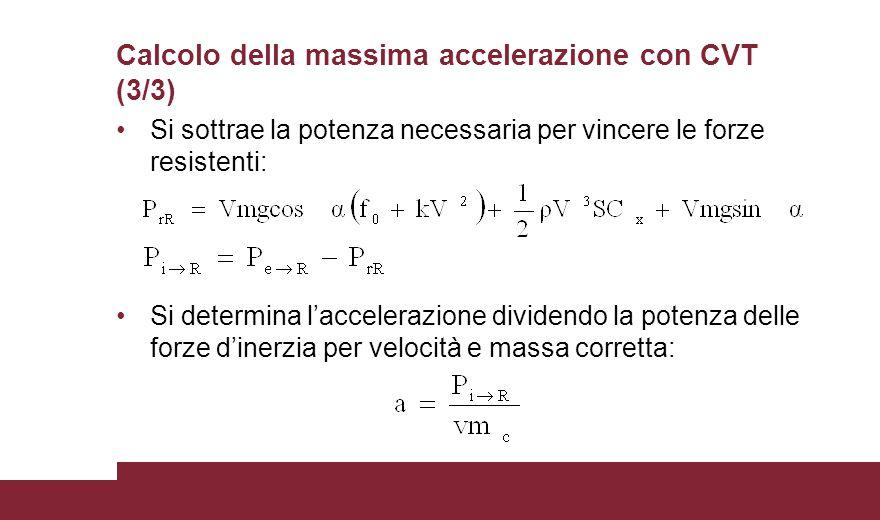Calcolo della massima accelerazione con CVT (3/3)