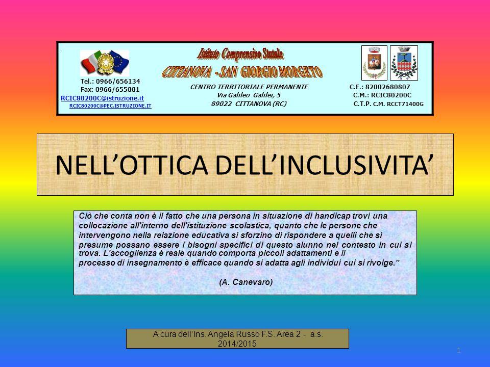 NELL'OTTICA DELL'INCLUSIVITA'