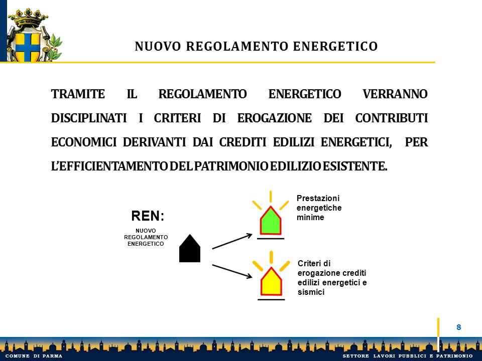 Nuovo regolamento energetico