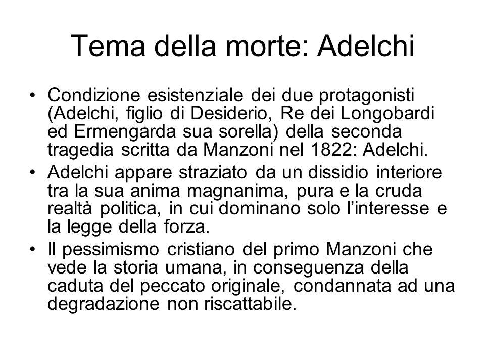 Tema della morte: Adelchi