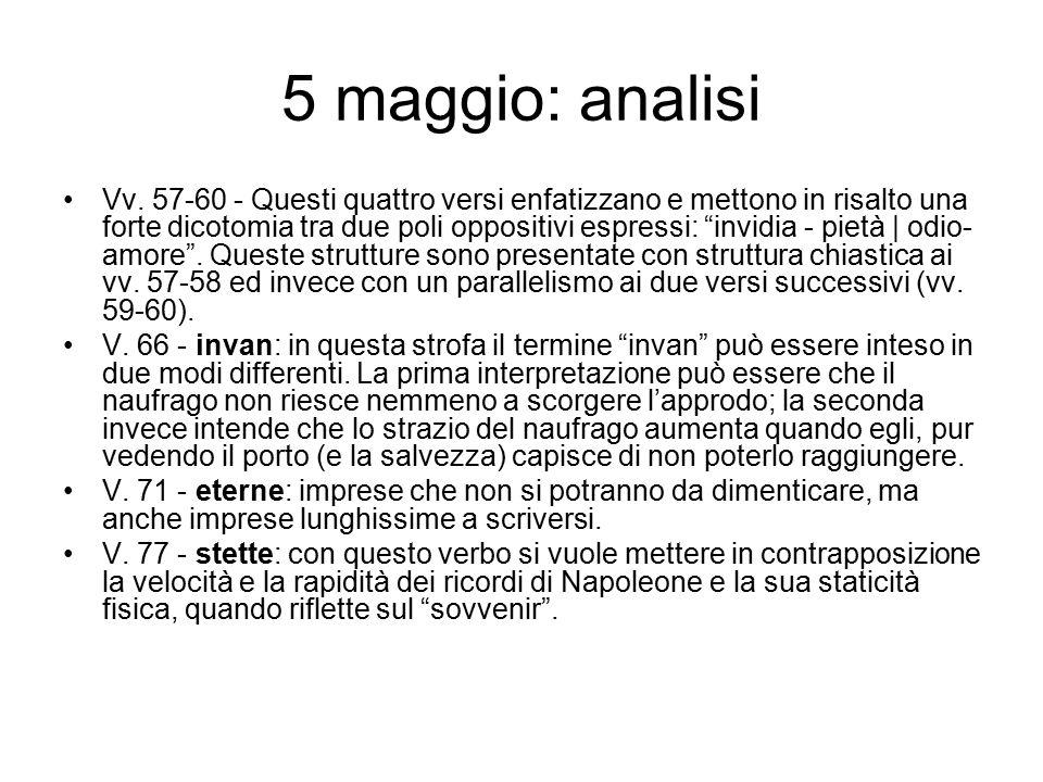 5 maggio: analisi