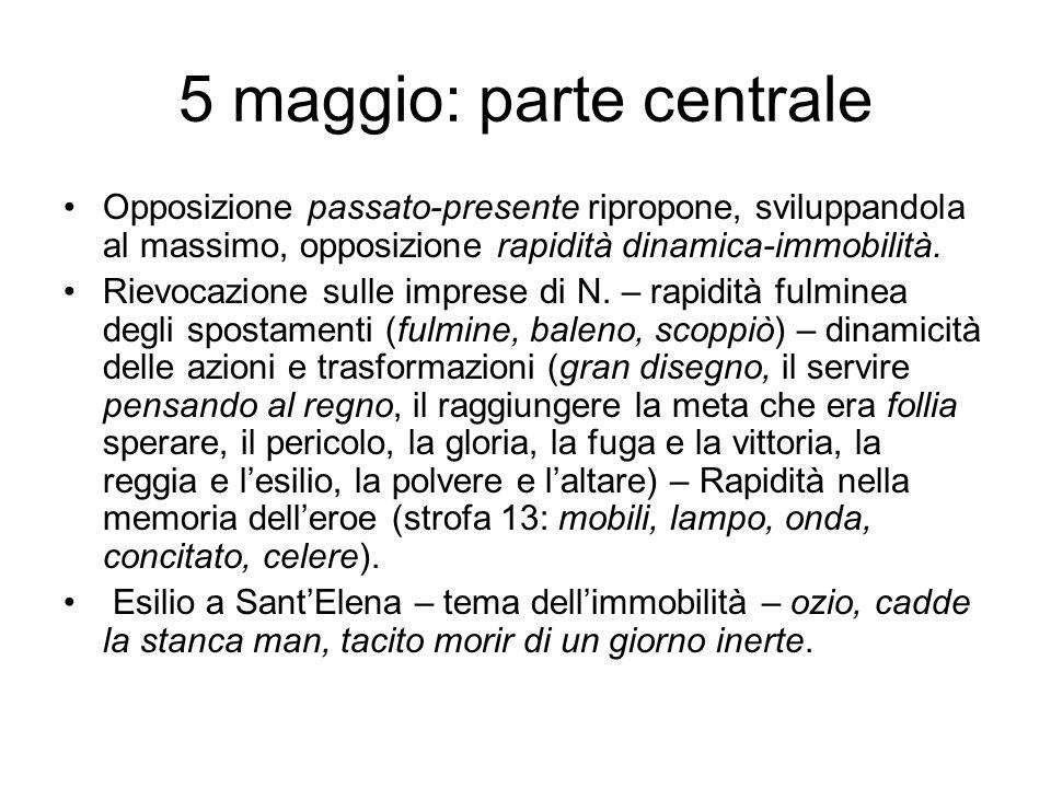 5 maggio: parte centrale