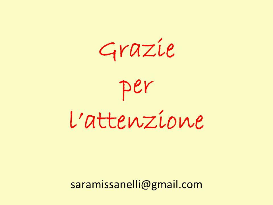 Grazie per l'attenzione saramissanelli@gmail.com