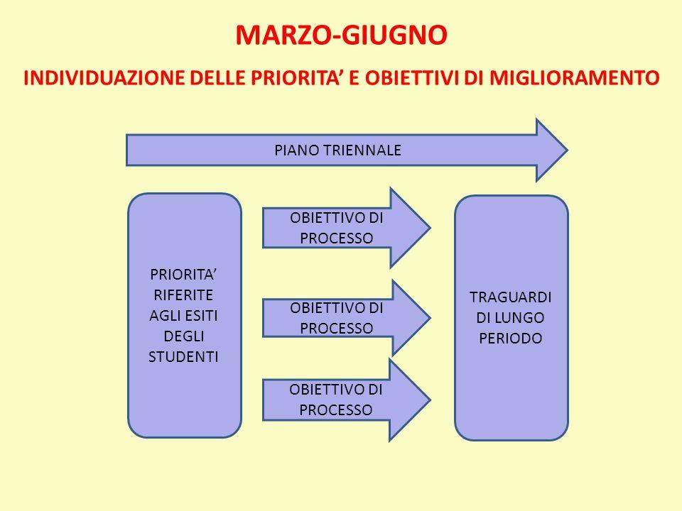 INDIVIDUAZIONE DELLE PRIORITA' E OBIETTIVI DI MIGLIORAMENTO