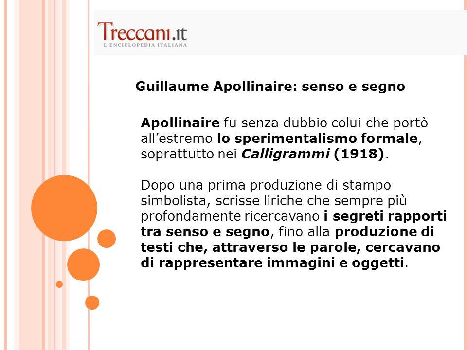 Guillaume Apollinaire: senso e segno
