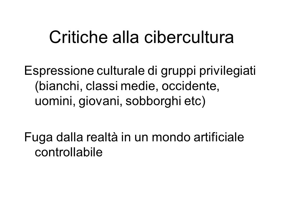 Critiche alla cibercultura