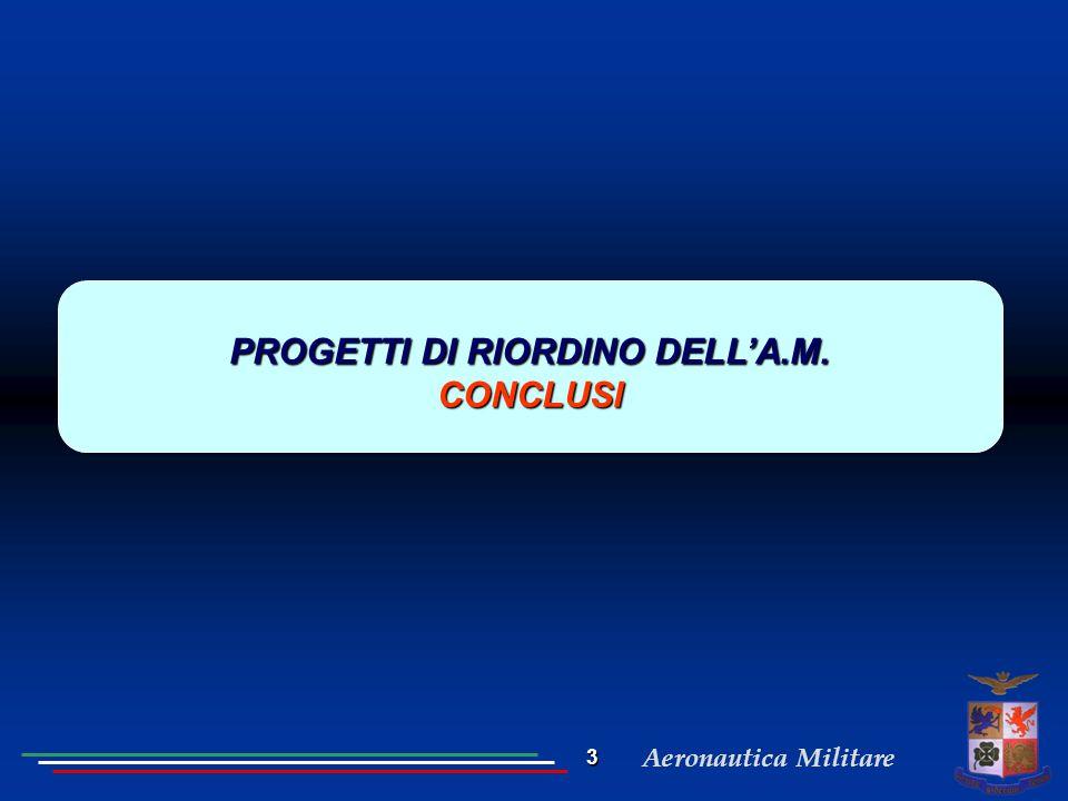 PROGETTI DI RIORDINO DELL'A.M.
