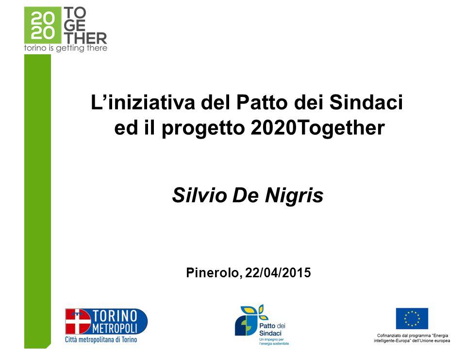 L'iniziativa del Patto dei Sindaci ed il progetto 2020Together