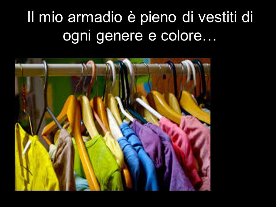 Il mio armadio è pieno di vestiti di ogni genere e colore…