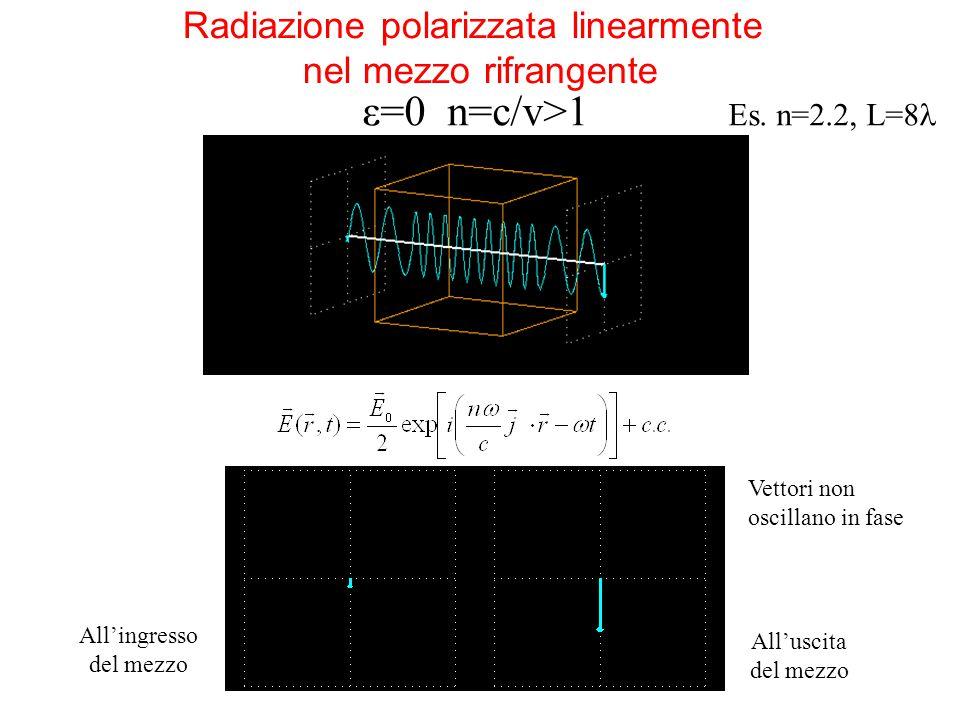 Radiazione polarizzata linearmente