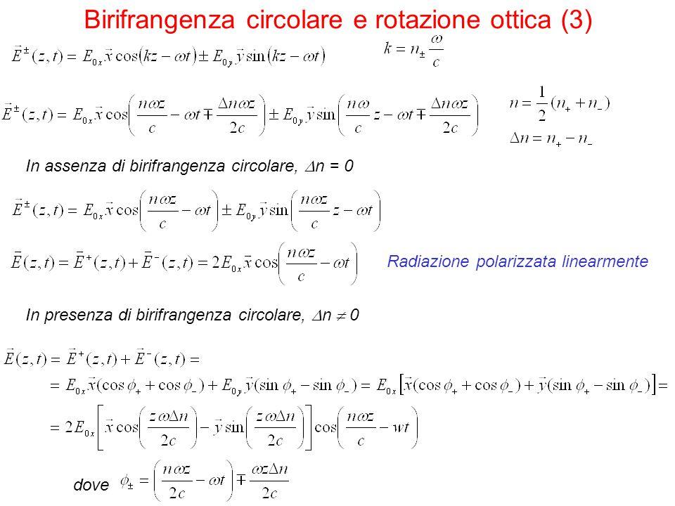 Birifrangenza circolare e rotazione ottica (3)