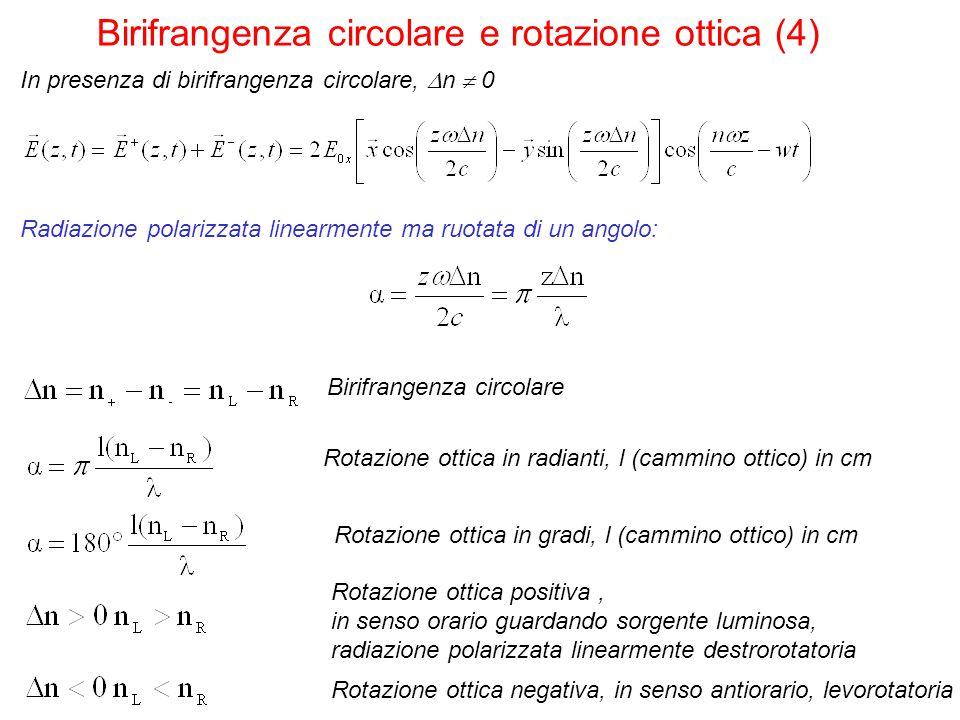 Birifrangenza circolare e rotazione ottica (4)