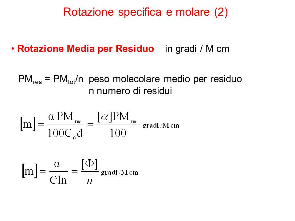 Rotazione specifica e molare (2)