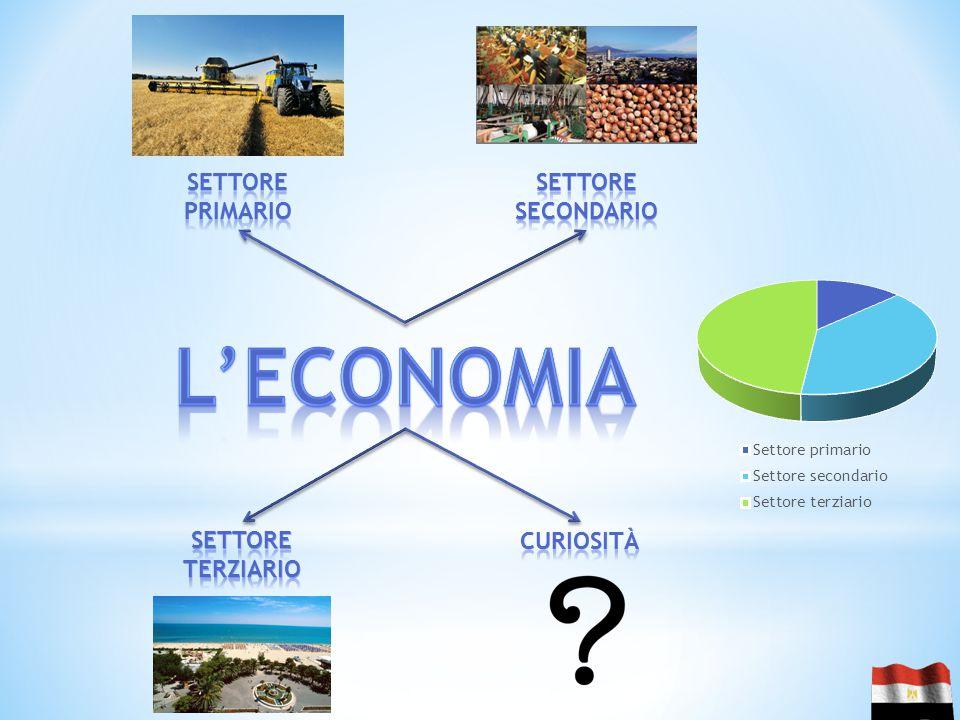 L'economia Settore primario Settore secondario Settore terziario