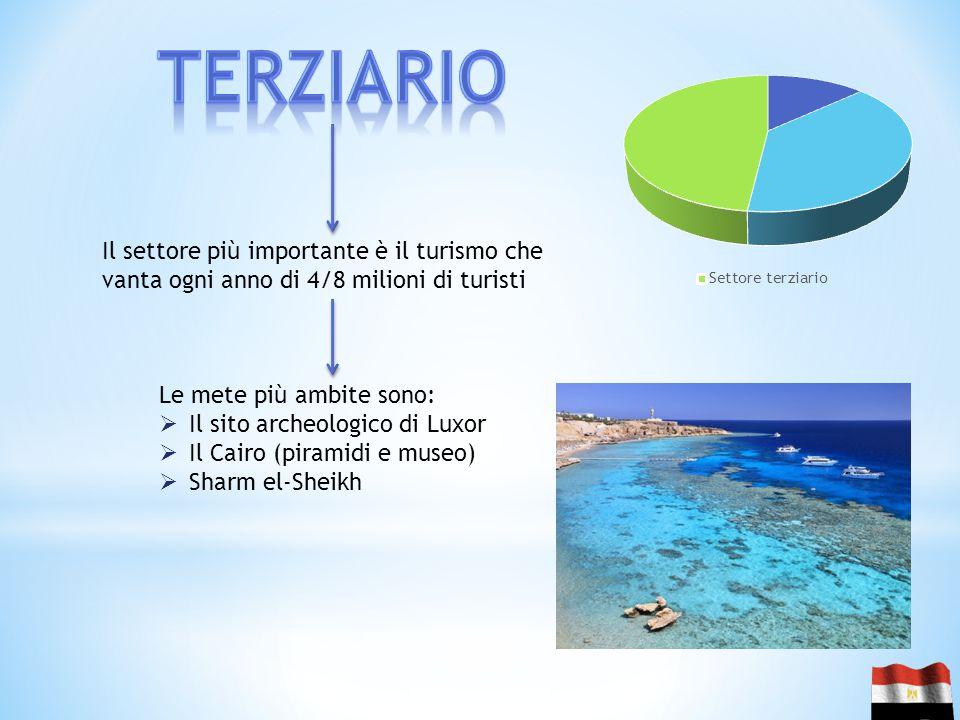 terziario Il settore più importante è il turismo che vanta ogni anno di 4/8 milioni di turisti. Le mete più ambite sono: