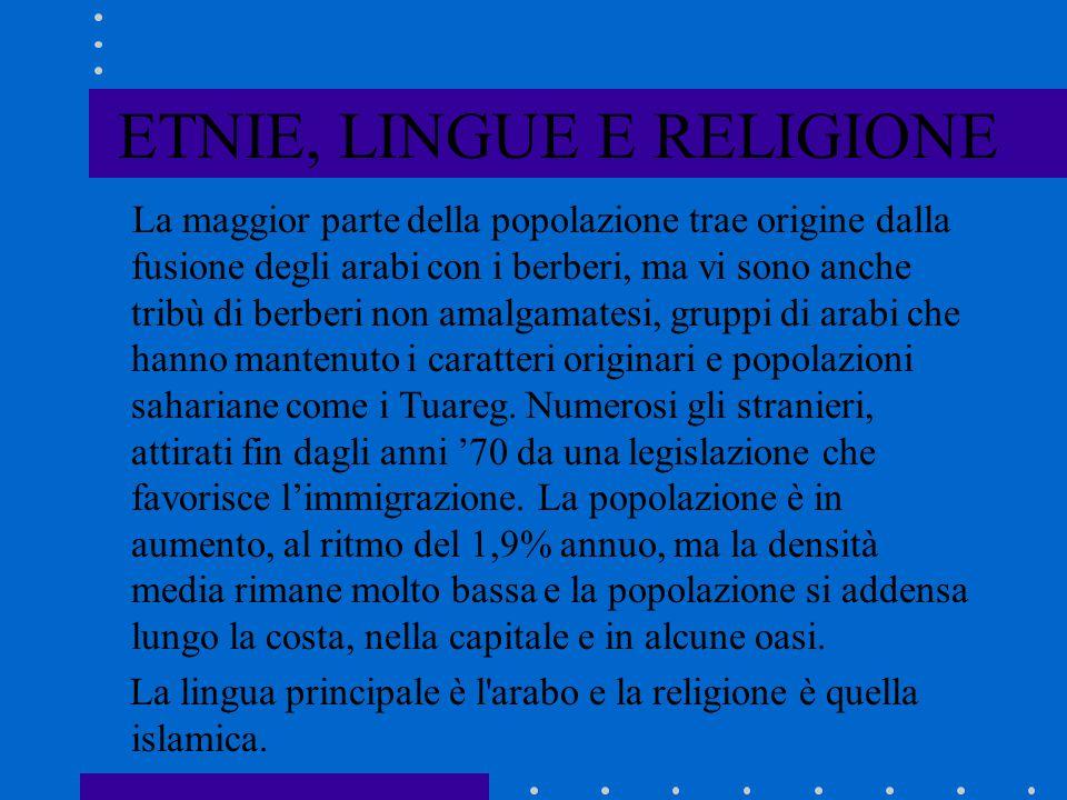 ETNIE, LINGUE E RELIGIONE