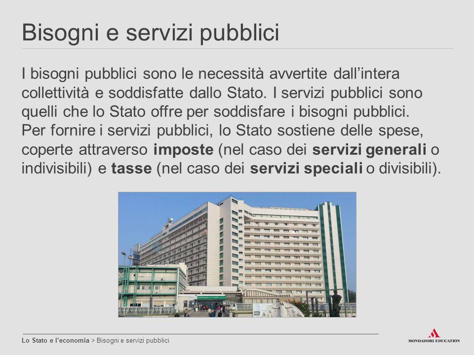 Bisogni e servizi pubblici
