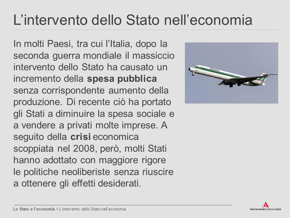 L'intervento dello Stato nell'economia