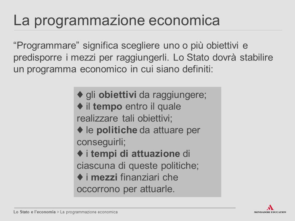 La programmazione economica