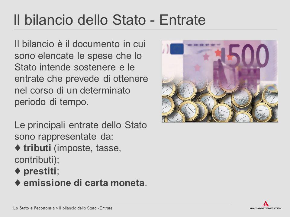 Il bilancio dello Stato - Entrate