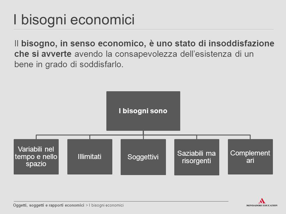 I bisogni economici