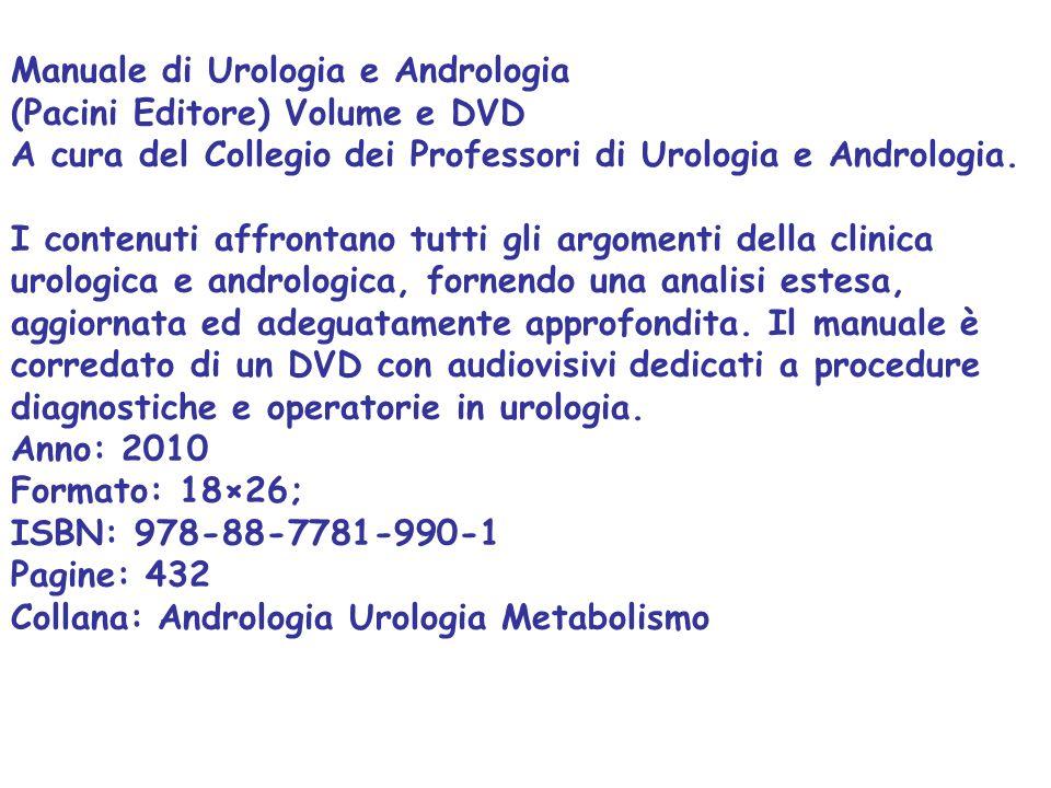 Manuale di Urologia e Andrologia