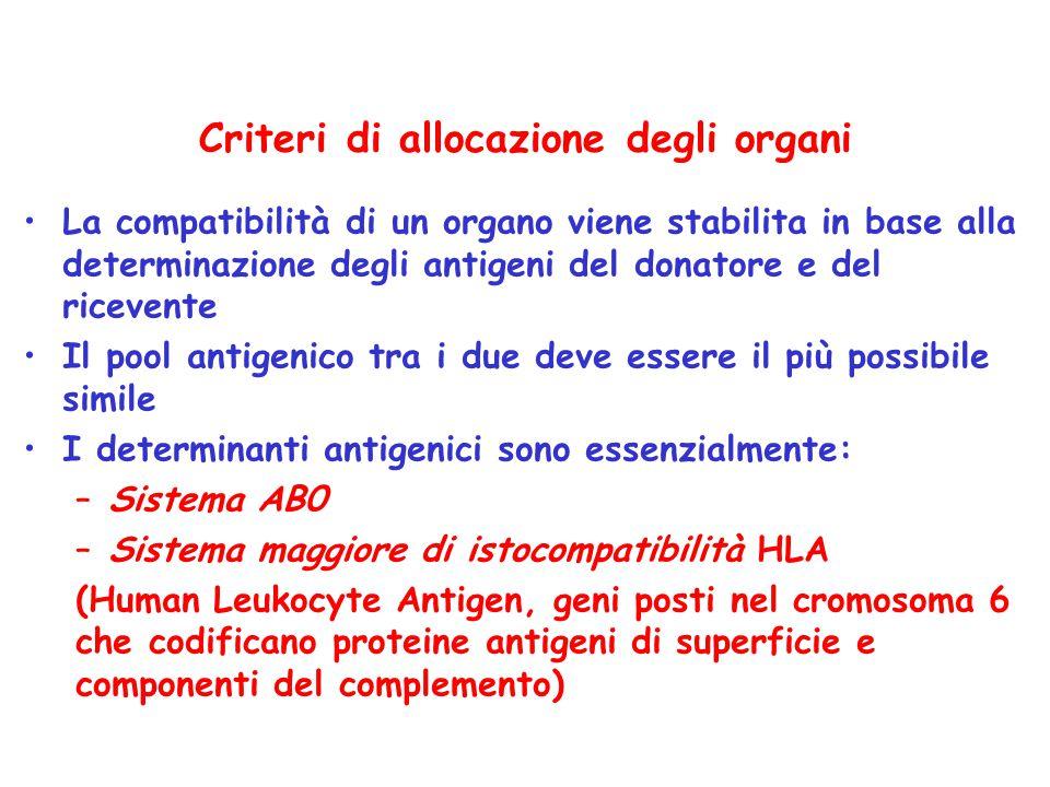 Criteri di allocazione degli organi