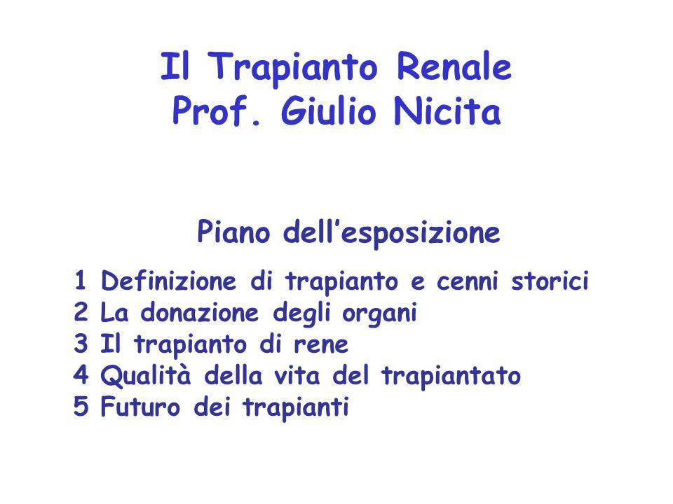 Il Trapianto Renale Prof. Giulio Nicita