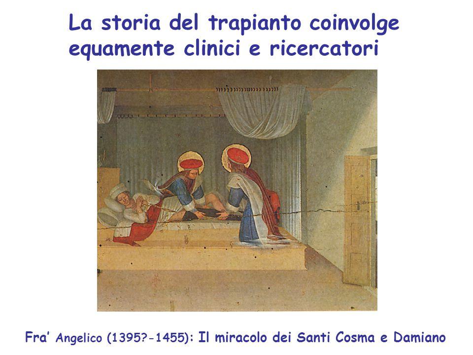 La storia del trapianto coinvolge equamente clinici e ricercatori