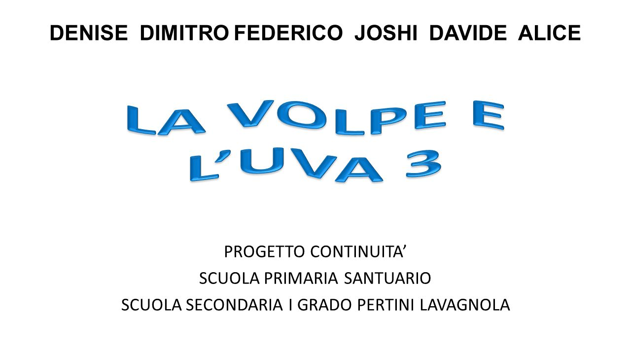 DENISE DIMITRO FEDERICO JOSHI DAVIDE ALICE