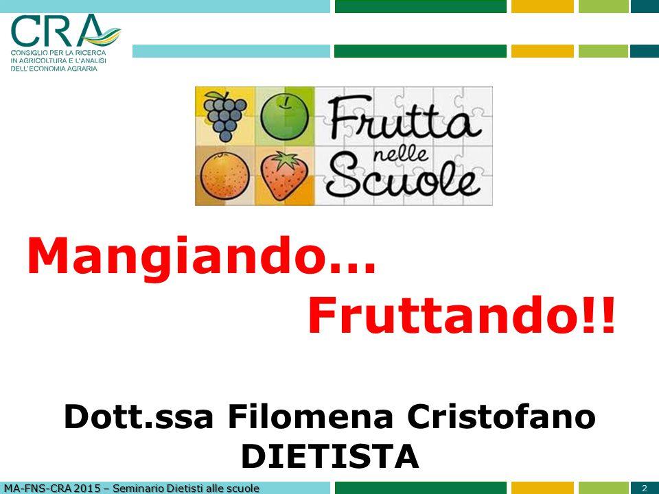 Dott.ssa Filomena Cristofano DIETISTA