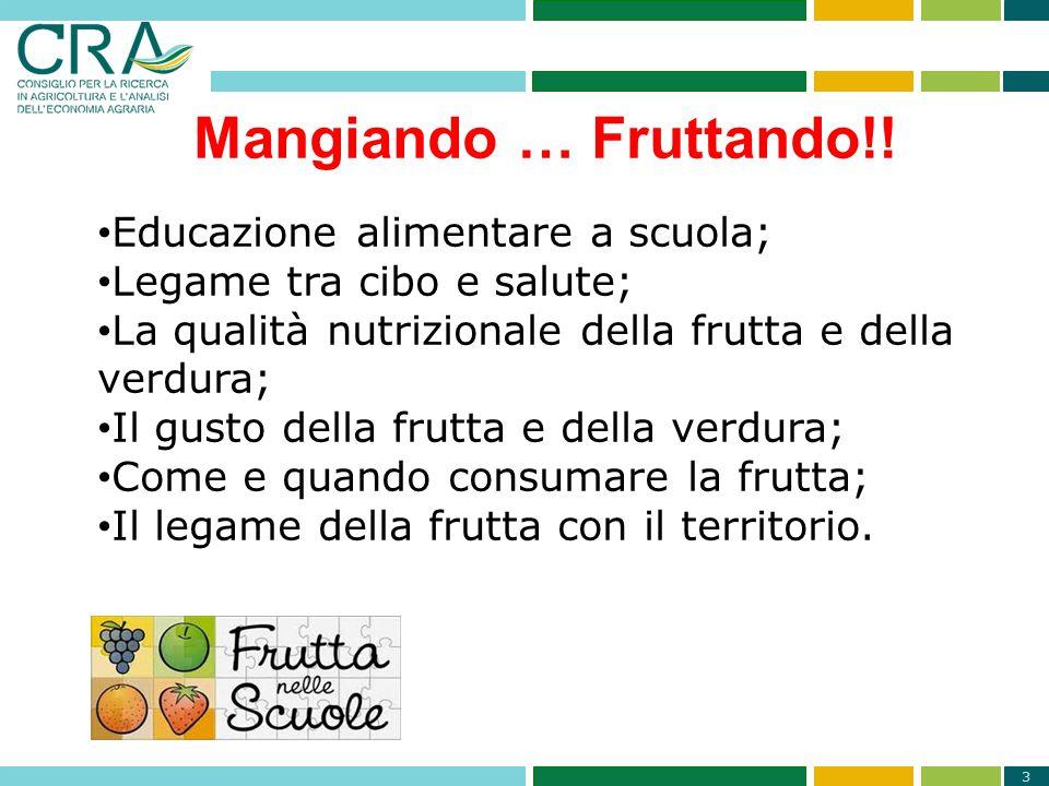 Mangiando … Fruttando!! Educazione alimentare a scuola;