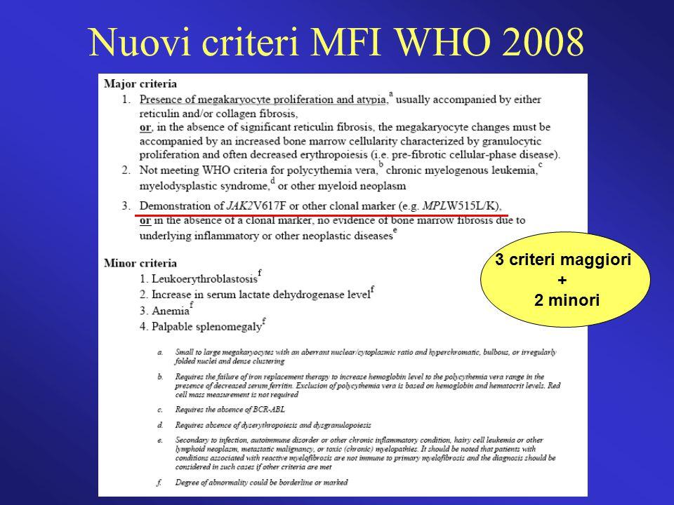 Nuovi criteri MFI WHO 2008 3 criteri maggiori + 2 minori 40