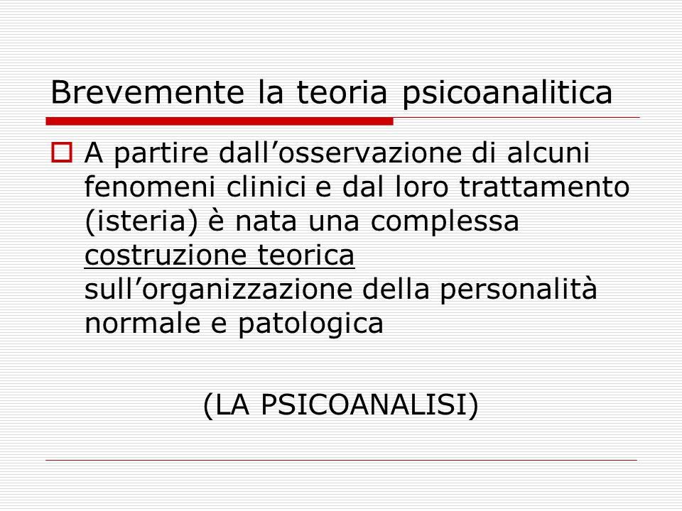 Brevemente la teoria psicoanalitica