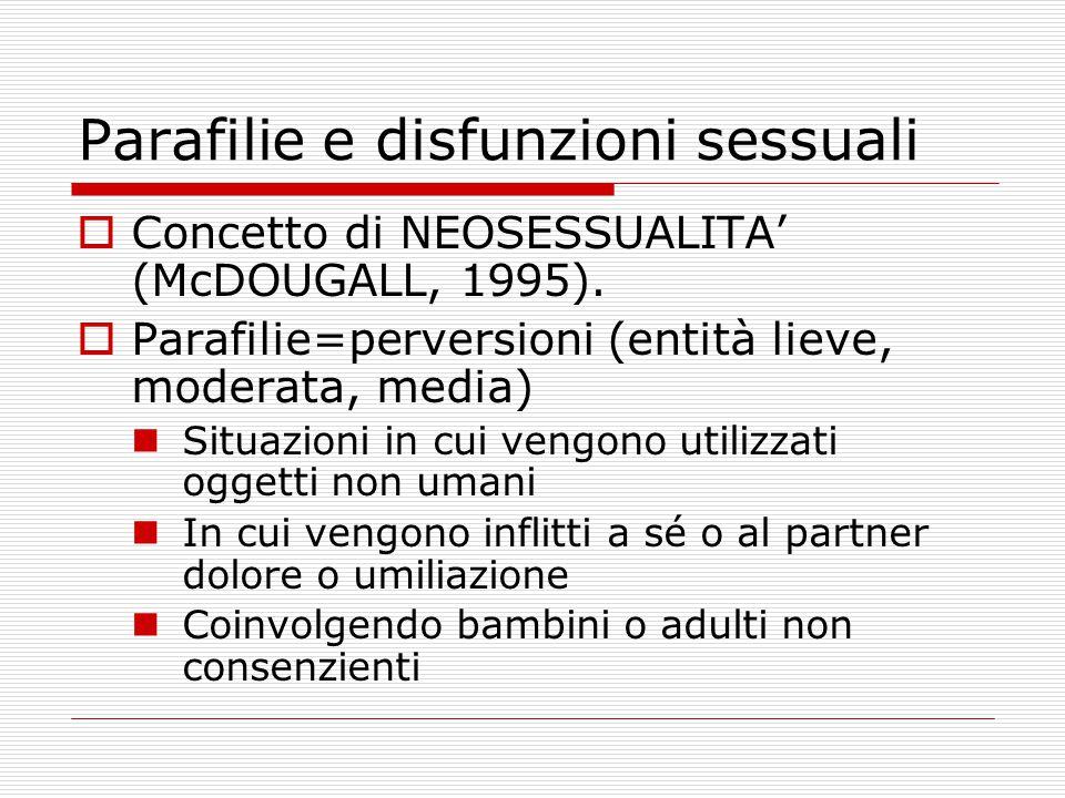 Parafilie e disfunzioni sessuali