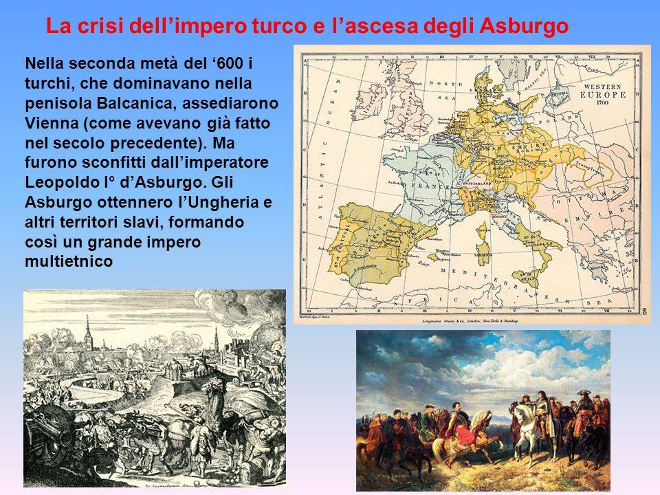 La crisi dell'impero turco e l'ascesa degli Asburgo