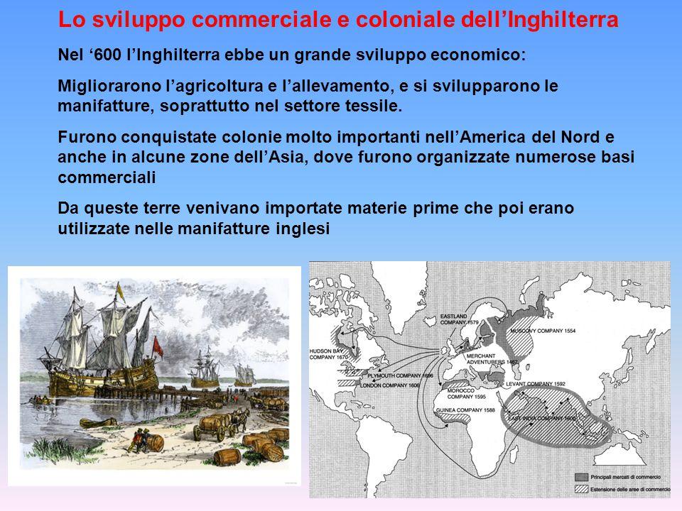 Lo sviluppo commerciale e coloniale dell'Inghilterra