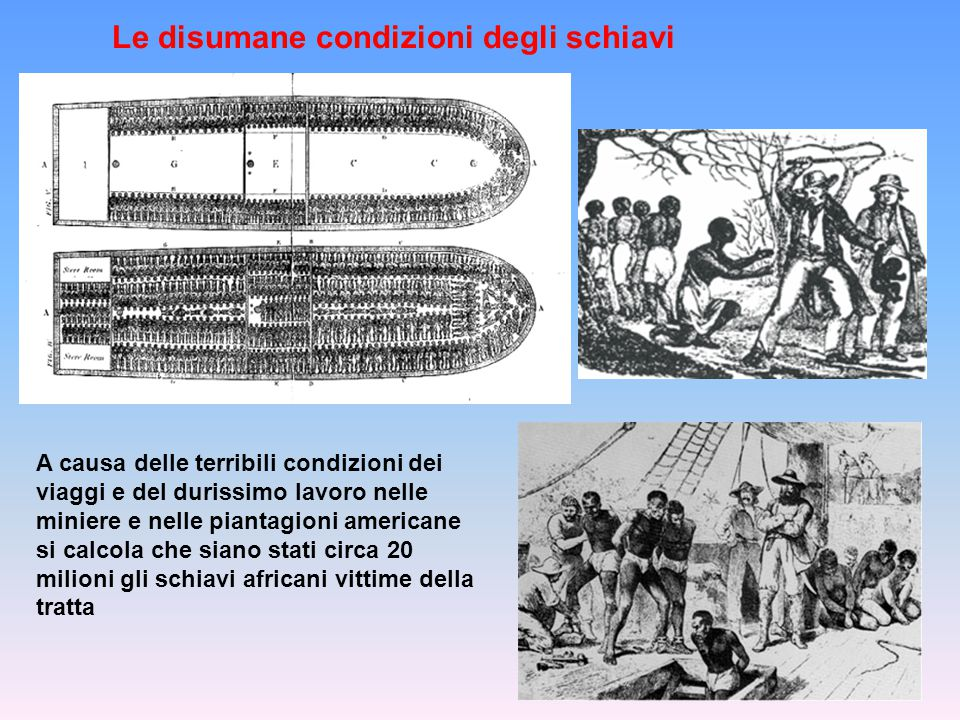 Le disumane condizioni degli schiavi