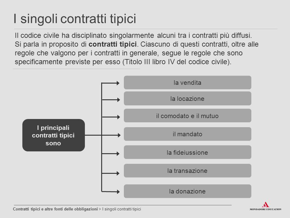 I principali contratti tipici sono