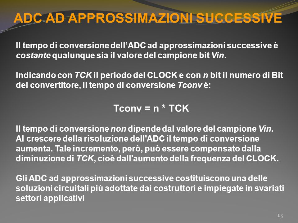 ADC AD APPROSSIMAZIONI SUCCESSIVE