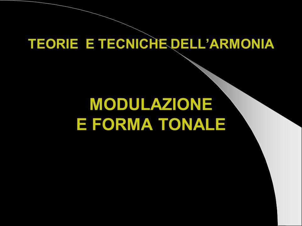 TEORIE E TECNICHE DELL'ARMONIA MODULAZIONE E FORMA TONALE