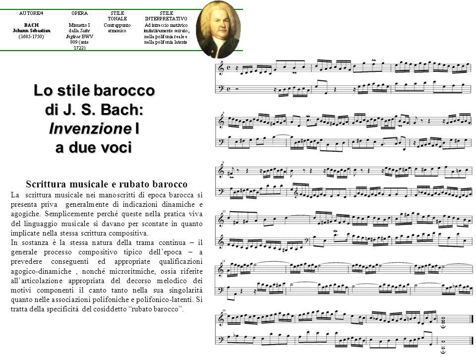 Lo stile barocco di J. S. Bach: Invenzione I a due voci