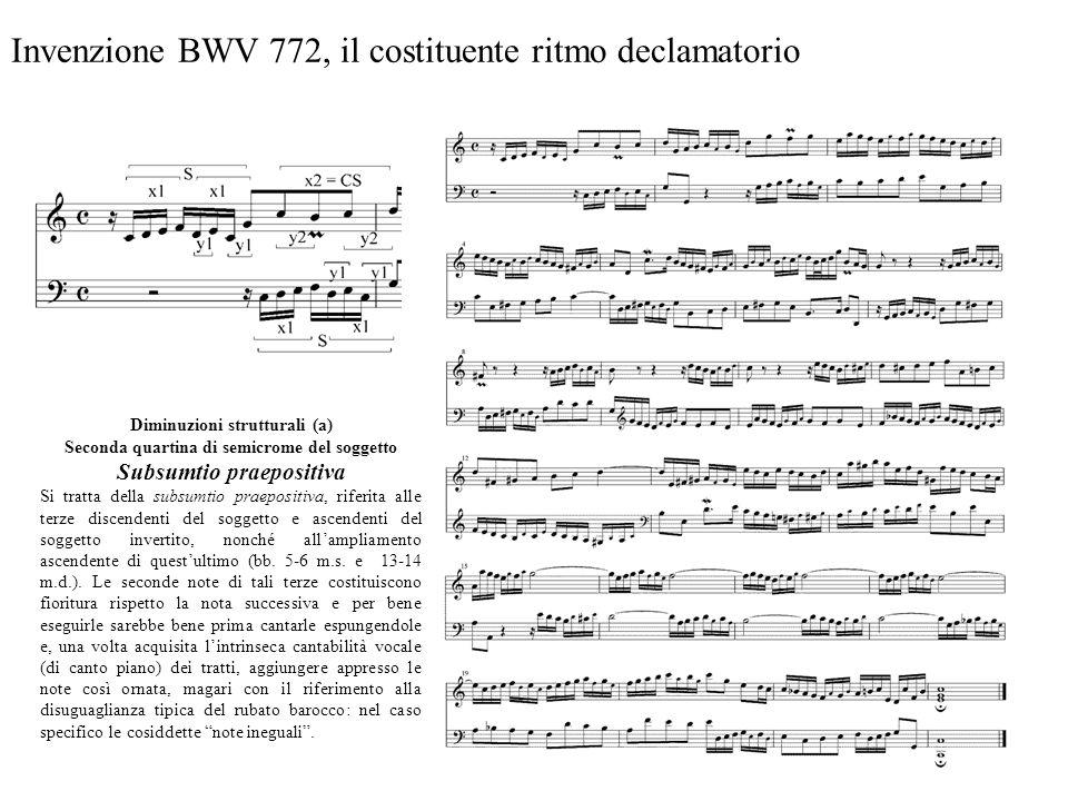 Invenzione BWV 772, il costituente ritmo declamatorio