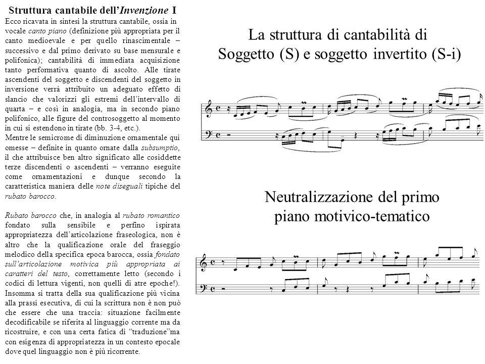 Struttura cantabile dell'Invenzione I