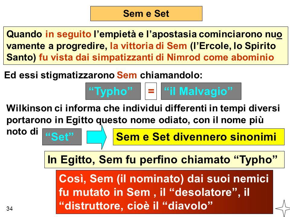 Sem e Set divennero sinonimi