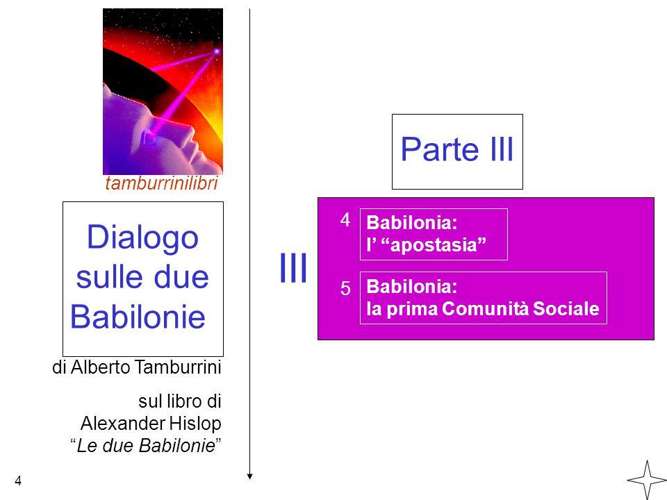 III Parte III Dialogo sulle due Babilonie tamburrinilibri 4 Babilonia: