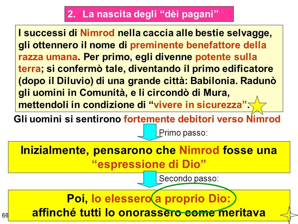 Inizialmente, pensarono che Nimrod fosse una espressione di Dio